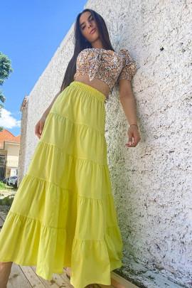 Sukňa Rea žltá