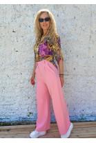 Nohavice Michelle ružové