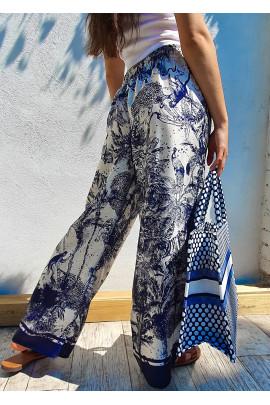Nohavice Oliva modré