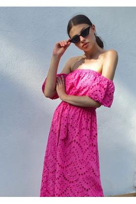 Šaty Clotilde fuksiové