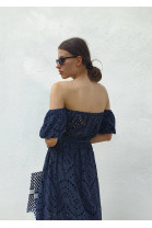Šaty Clotilde tmavo-modré