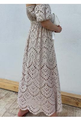 Šaty Clotilde béžové