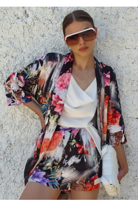 Kimono MAURO kvetové