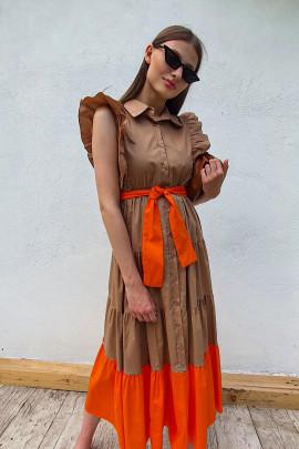 Šaty Mimosa hnedé