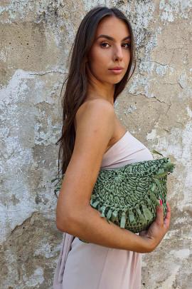Kabelka Clelia khaki zelená