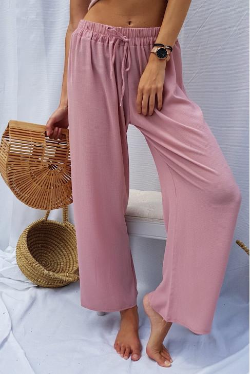 Nohavice LEA ružové