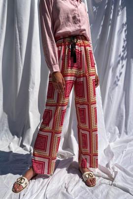 Nohavice Pantaleo ružové