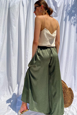 Nohavice Caino zelené