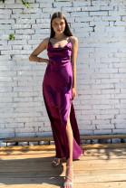 Šaty Gloria baklažánové