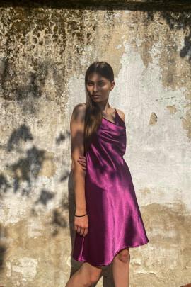 Šaty Livia baklažánové