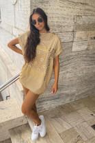 Tričko Flaviana hnedé