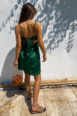 Šaty Edith tmavozelené