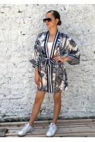 Kimono Clarisse modré