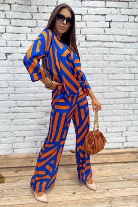Nohavice Mode oranžové