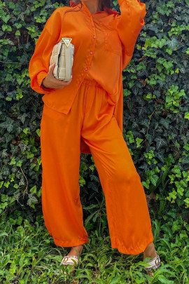Nohavice Louise oranžové