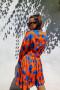Šaty Alberta oranžové