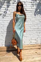 Šaty Iris olivové