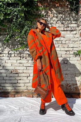 Kabát Laya oranžový