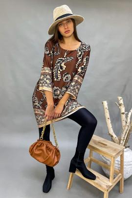 Šaty Magnolie  hnedé