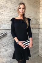 Šaty Volan čierne