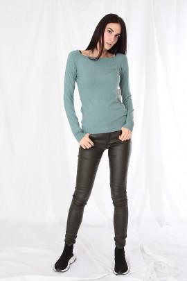 Pulover Timo sivo-zelený