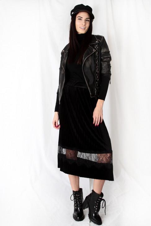 Sukňa ČIPKA čierna