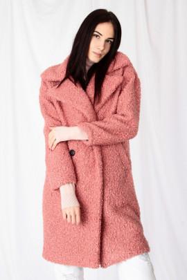 Kabát TEDDY ružový