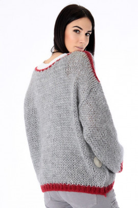 Pulover LOVE sivý
