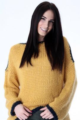 pulover žl.modrý