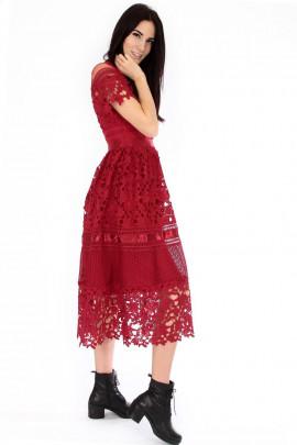 Šaty Elizabet bordové