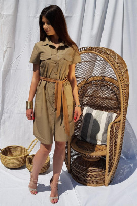 Šaty Safari hnedé