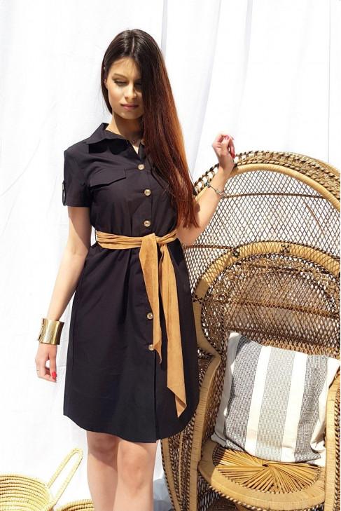 Šaty Safari čierne