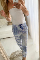 Nohavice Leona modré