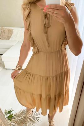 Šaty Loren hnedé