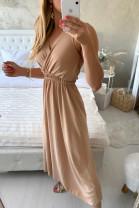 Šaty Sára hnedé