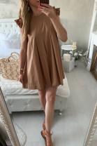 Šaty Letty hnedé