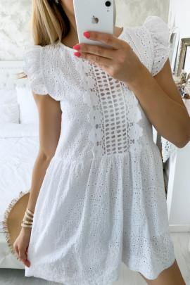 Šaty Latina biele