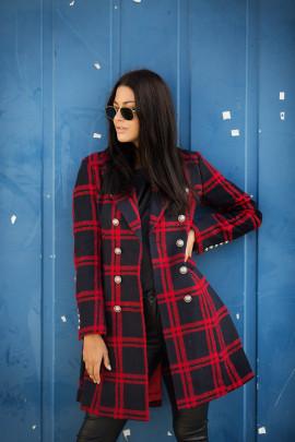 Kabát Pula červený