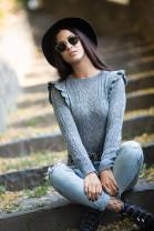Pulover JOANNA šedý