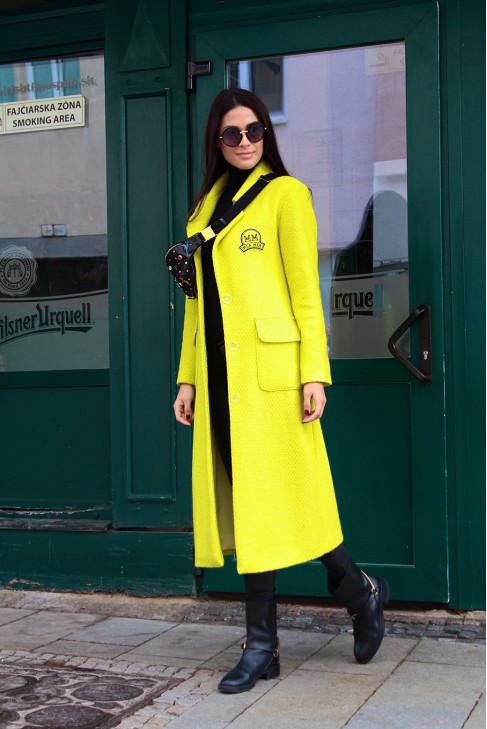 Kabát Romy limetkový