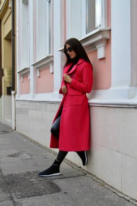Kabát Romy ružový