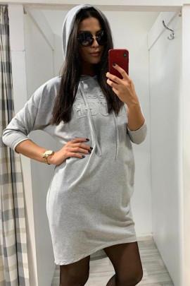 Šaty ELISA sivé