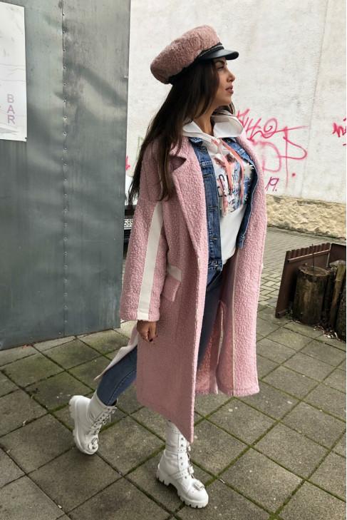 Kabát Iza ružový