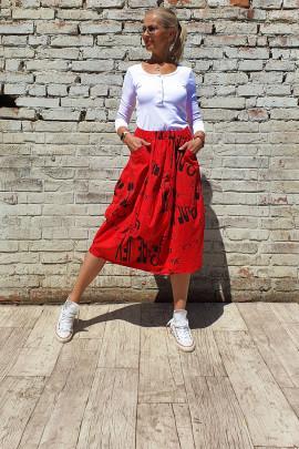 Sukňa BONA červená