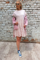 Šaty Lívia pudrové