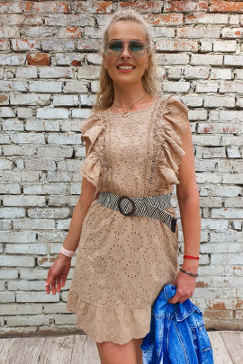 Šaty Eleonora béžové