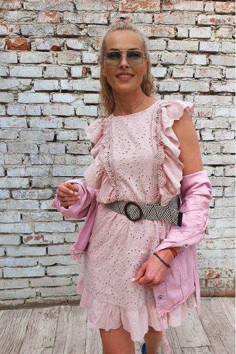 Šaty Eleonora pudrové