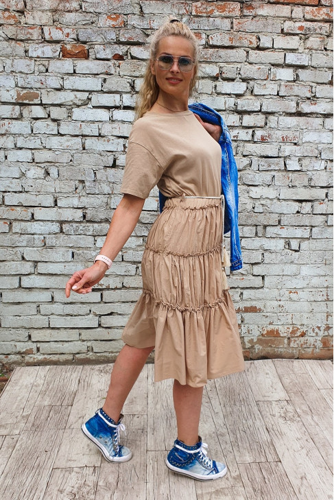 Šaty Ines béžové