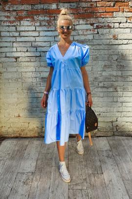 Šaty Carlota modré