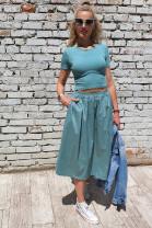 Sukňa Rita zelená